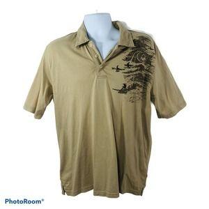 Quicksilver Men's Surf Polo T Shirt Size M